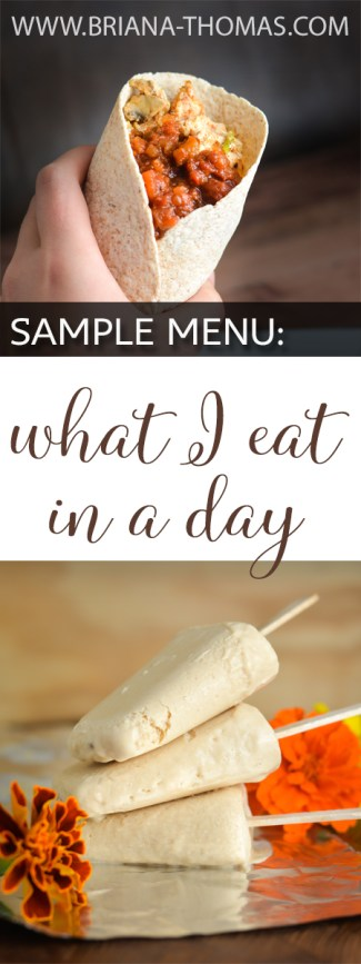 Sample Menu What I Eat In A Day Revised  Briana Thomas