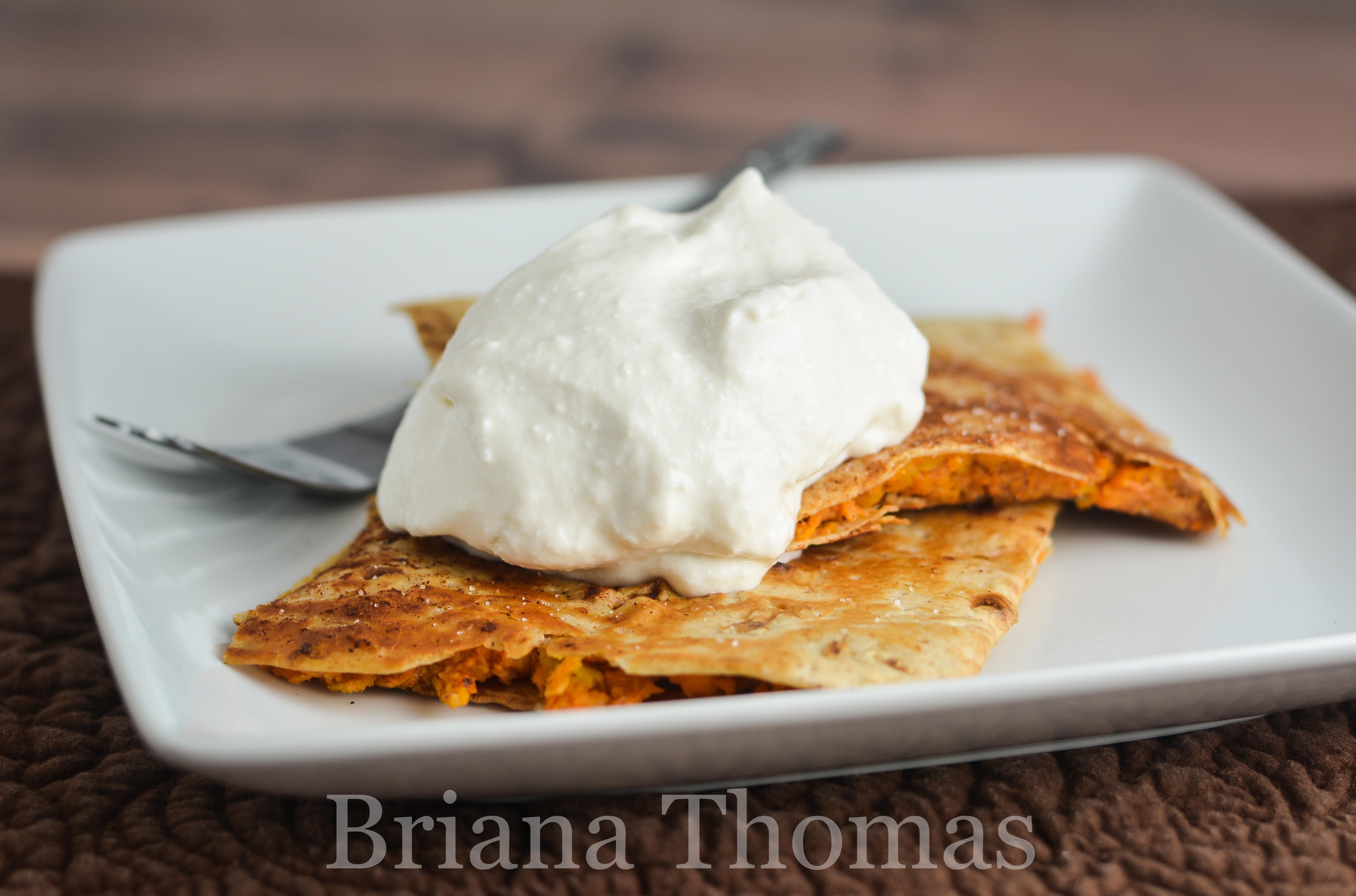 Low Glycemic Sweet Potato Fried Taco With Ice Cream Thm