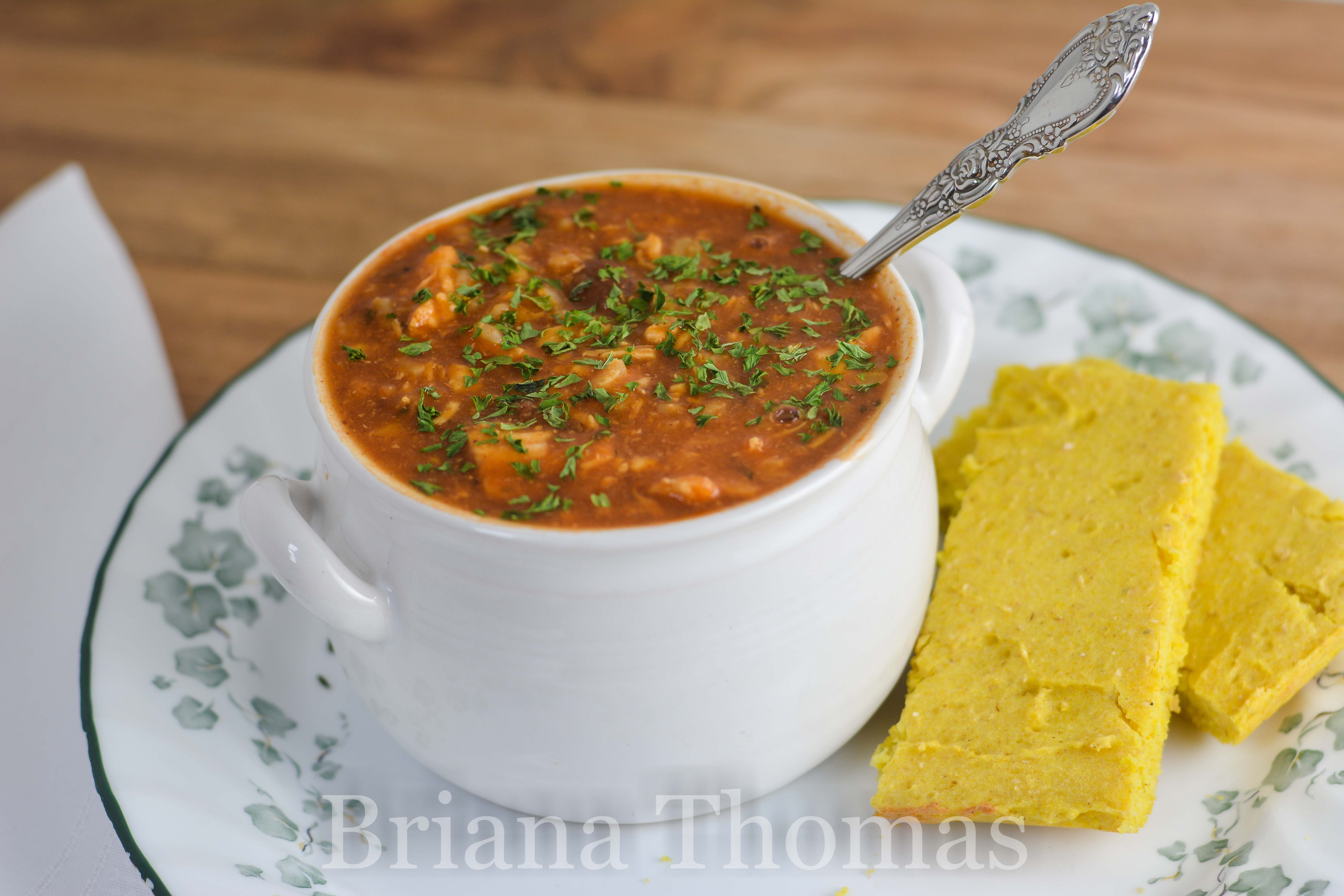 This big pot of Hearty Barbecue Soup will feed your family with lots of leftovers! THM:E, no special ingredients, gluten/egg/dairy/nut free, low fat