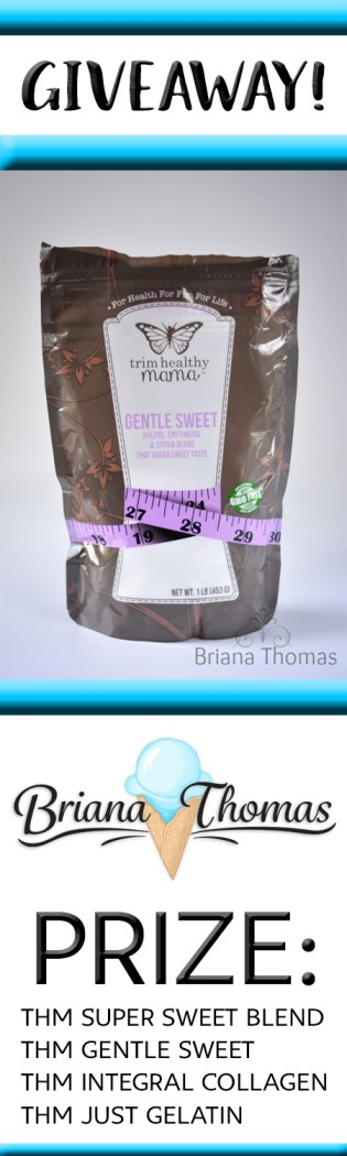 """Enter to win my """"getting started"""" THM bundle! THM Super Sweet Blend, Gentle Sweet, Integral Collagen, and Just Gelatin! Everything you need!"""