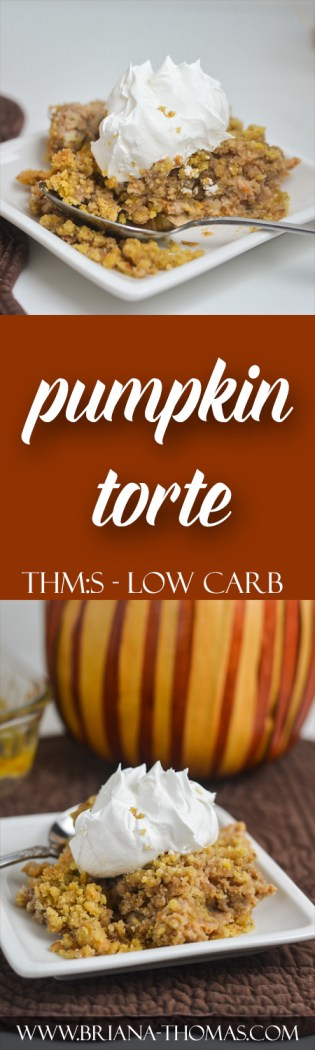 This scrumptious Pumpkin Torte is my THM-friendly version of the popular pumpkin dump cake! It's like a pumpkin cobbler, of sorts. THM:S, sugar/gluten free