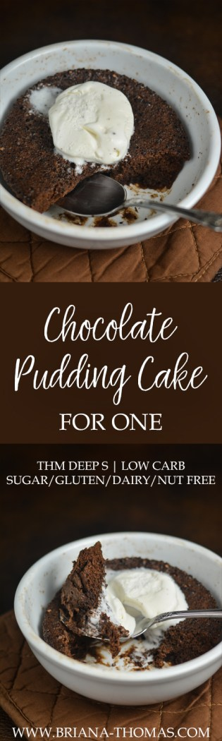 This moist Chocolate Pudding Cake for One uses one of my favorite weight loss ingredients! THM Deep S, low carb, sugar/gluten/dairy/nut free
