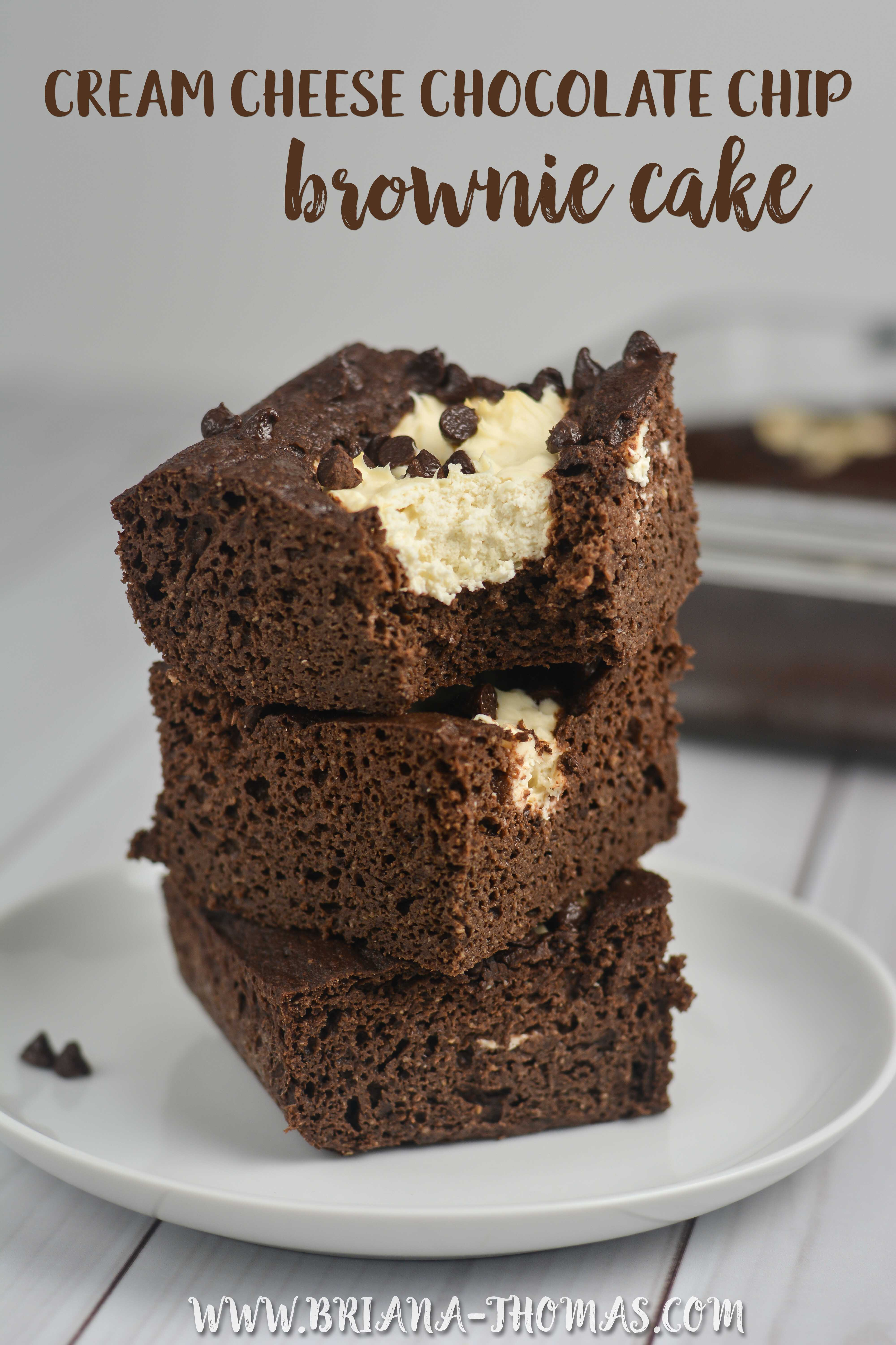 Low Carb Cream Cheese Chocolate Chip Brownie Cake Briana