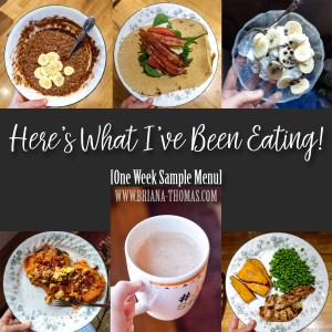 Here's What I've Been Eating! [Sample Menu]