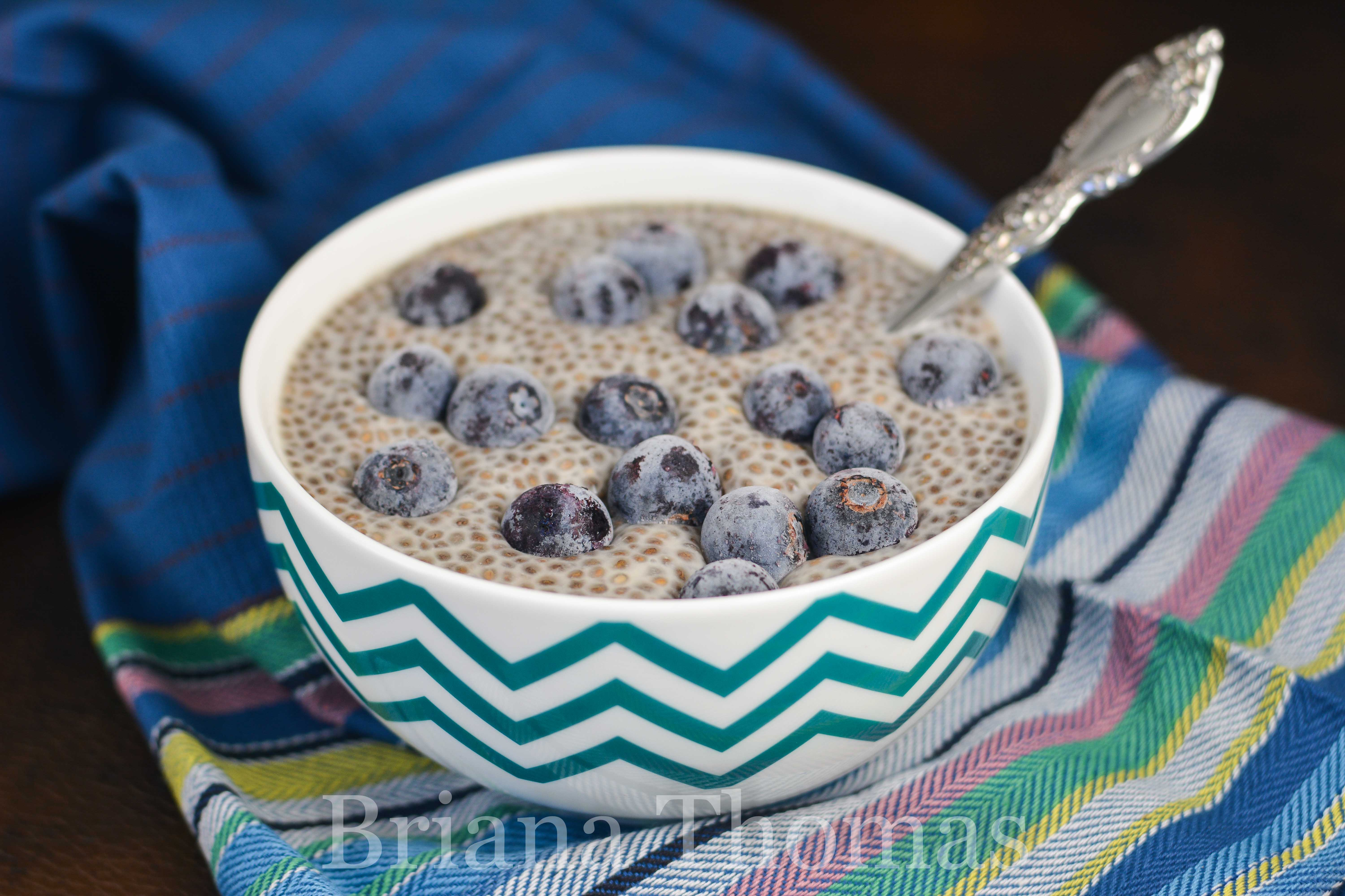 "This Single-Serve Vanilla Chia ""Tapioca"" makes a great breakfast, snack, or dessert! THM:S, low carb, sugar free, gluten/egg/dairy/nut free options"