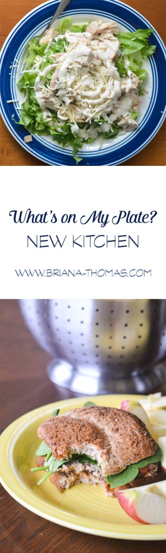 I'm loving cooking up all kinds of recipes in my new kitchen! Keeping a hungry husband fed is a full time job, though! Check out this post to see what we've been eating lately.