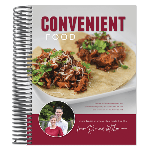 Convenient Food - low-glycemic cookbook by Briana Thomas Burkholder