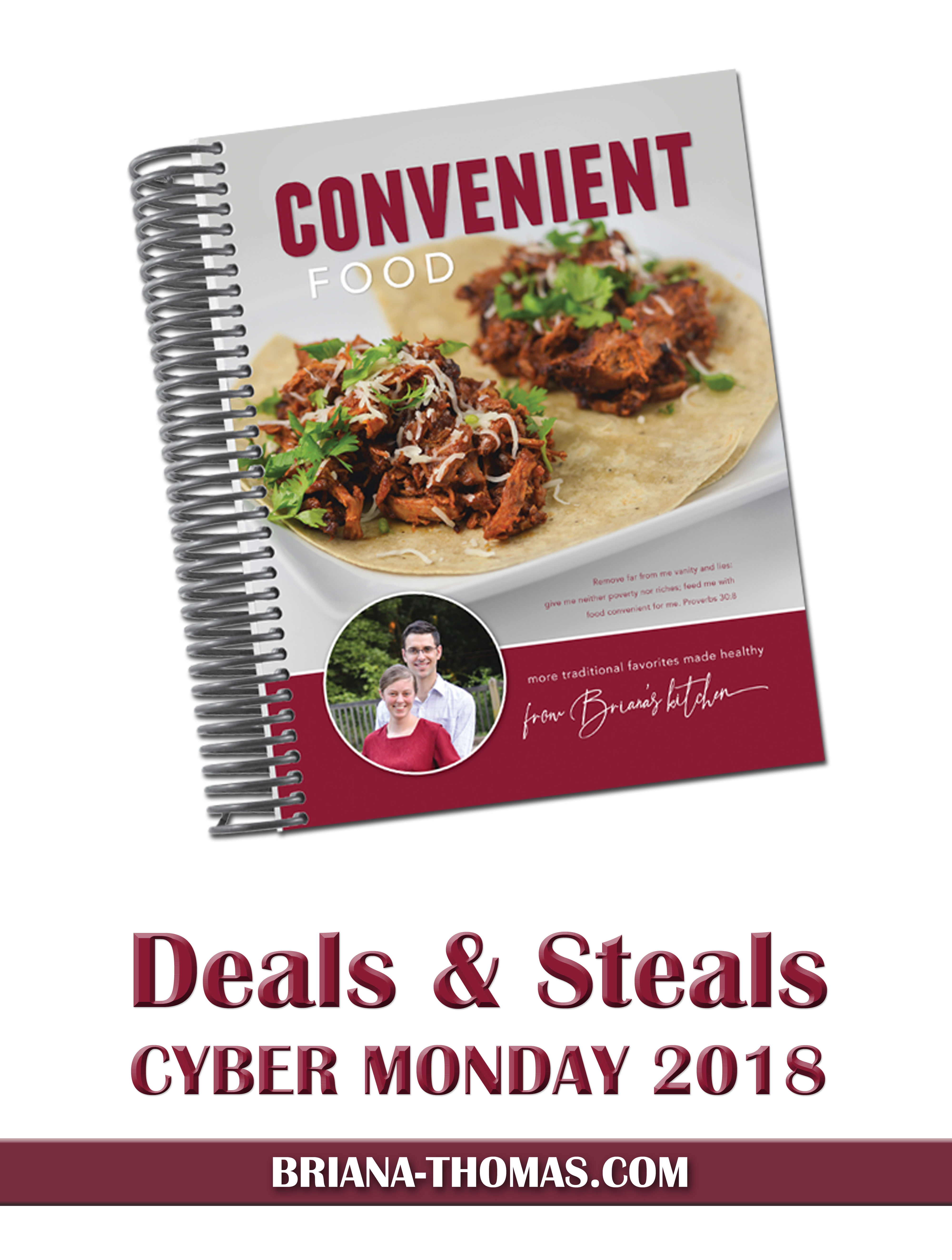 Check out this post for the best deals and steals for Cyber Monday 2018! Trim Healthy Mama sale, Briana Thomas cookbook sale, a giveaway, and more!