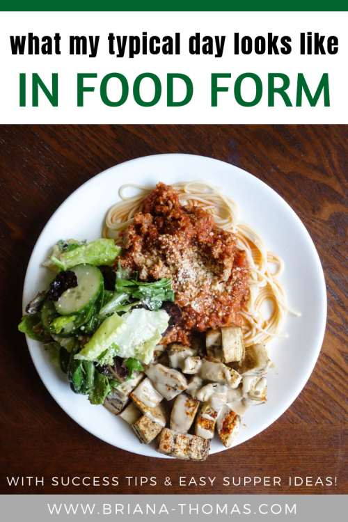 What My Typical Day Looks Like in Food Form! Come on over to hear about my SIMPLE daily menu, get lots of easy supper ideas, hear 3 of my top THM sucess tips, and see what I made for supper last night!