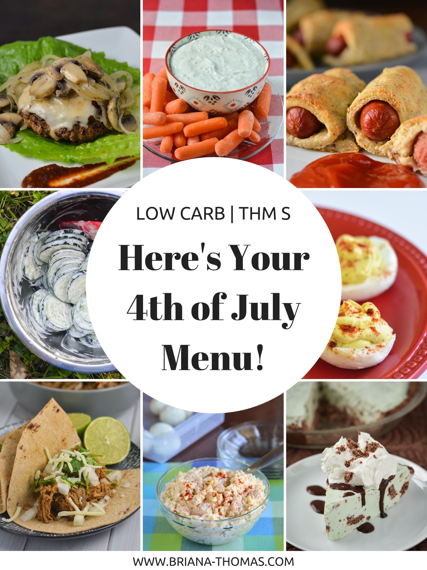 Here's Your Low Carb THM-Friendly Fourth of July Menu! Healthy picnic recipes!