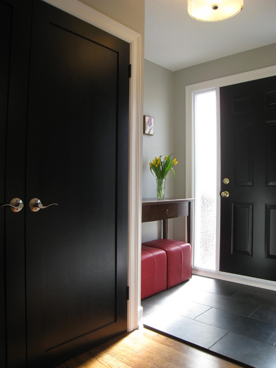 Front Entry With Black Doors (Montreal)