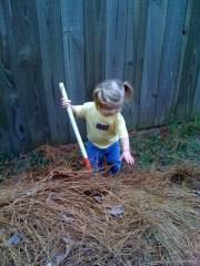 Helping with Yard Work