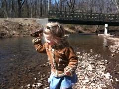 Rock Throwing at Indian Creek