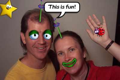 Karen Allen and Brian Allen in Imagination at Epcot