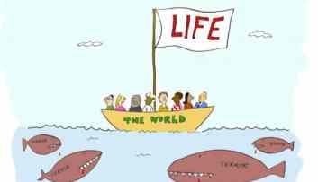 All in the same boat comic