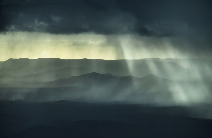 Moran Contemporary Photographic Prize Finalist 2019 - 'Rain Over Black Mountain' - image by Brian Cassey of Black Mountain near Cooktown far north Queensland.