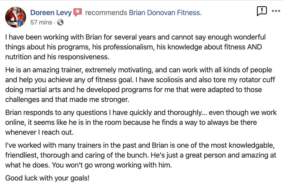 Brian Donovan Fitness Reviews