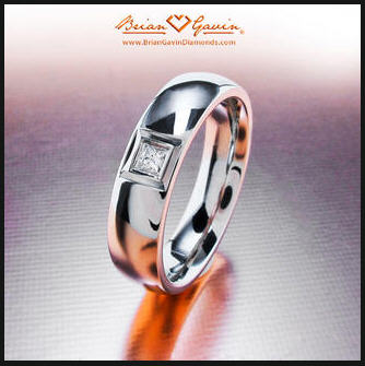 Mens Wedding Bands White Or Yellow Gold