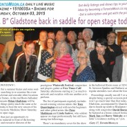 """""""Dr. B"""" Gladstone back in saddle for open stage today"""