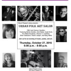 Urban Folk Art Salon Oct 27 – Mt. Pleasant Library