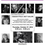 Urban Folk Art Salon Oct 27 – Mt. Pleasant Library