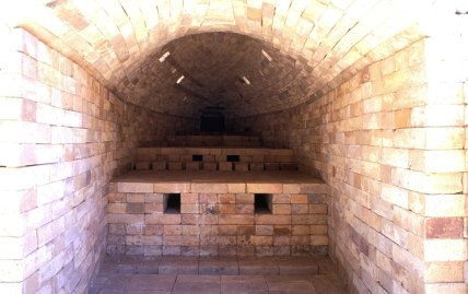 interior of kiln