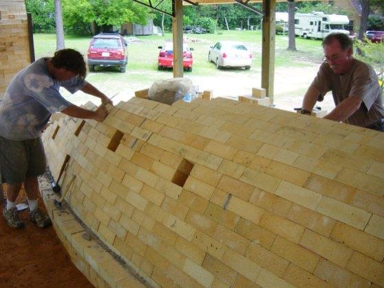 working on brick arch