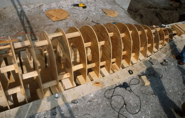 building wooden arch form