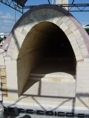 wooden arch form removed