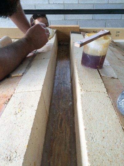 Soda kiln - prepping the key for castable
