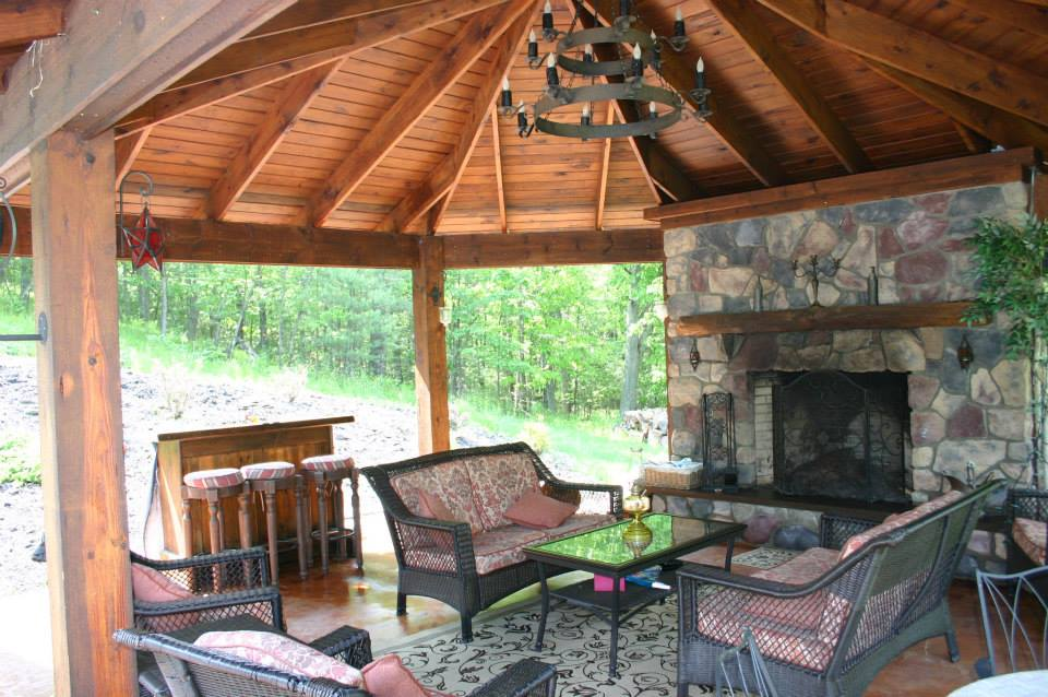 Outdoor Gallery | Azeck Deck | Composite | Gazebo ... on Fireplace In Yard id=48121