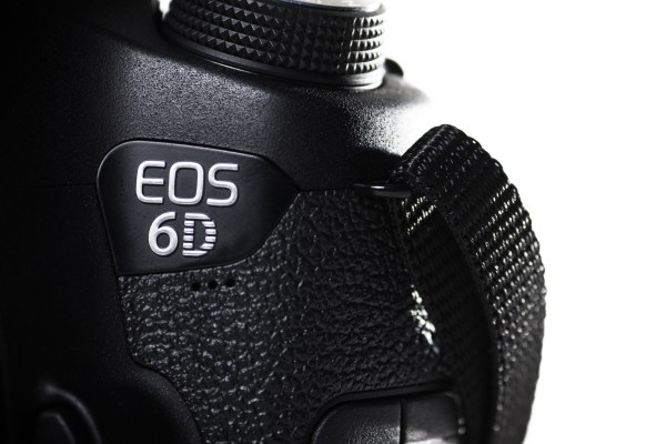 close up of Canon 6D camera
