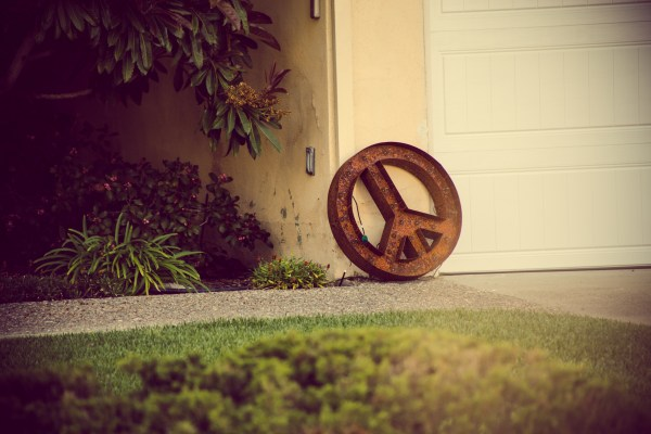 peace sign | photograph by Brian J. Matis