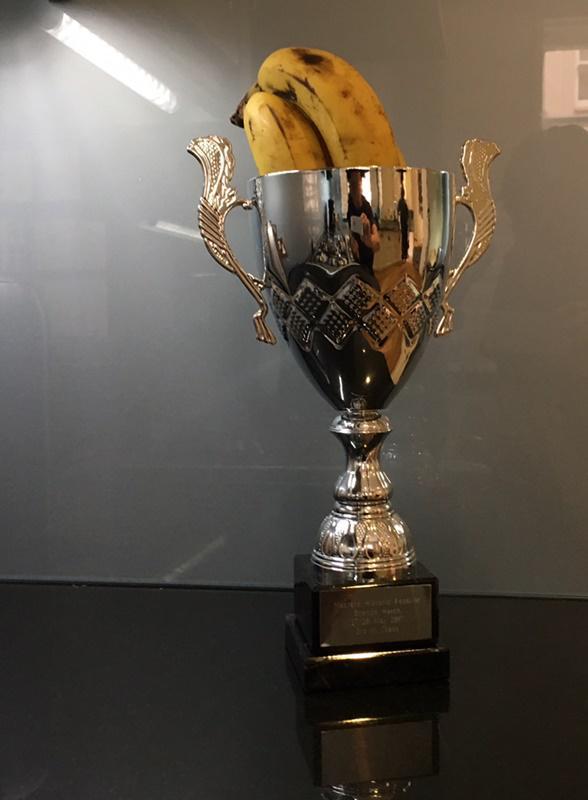 Trophy won by Brian Johnson