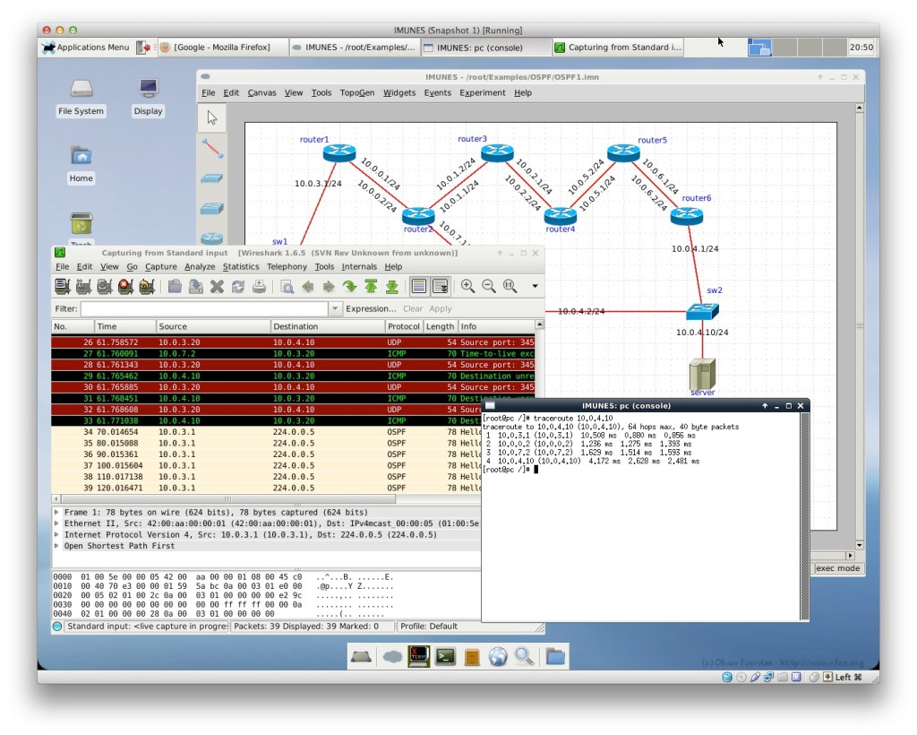 Open Source Routing And Network Simulation Cisco Diagram Design Elements Switches Hubs Win Imunes Simulator