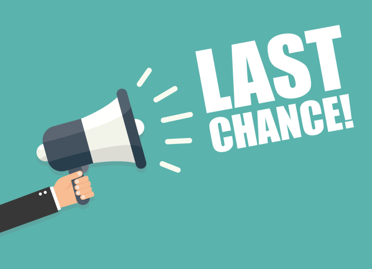 "Megaphone Displaying ""Last Chance,"" as this is the Last Chance to get the 100k Signup Bonus on the Chase Sapphire Reserve"