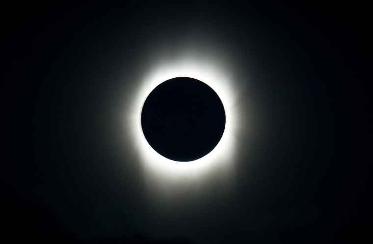 Sun's corona during total eclipse