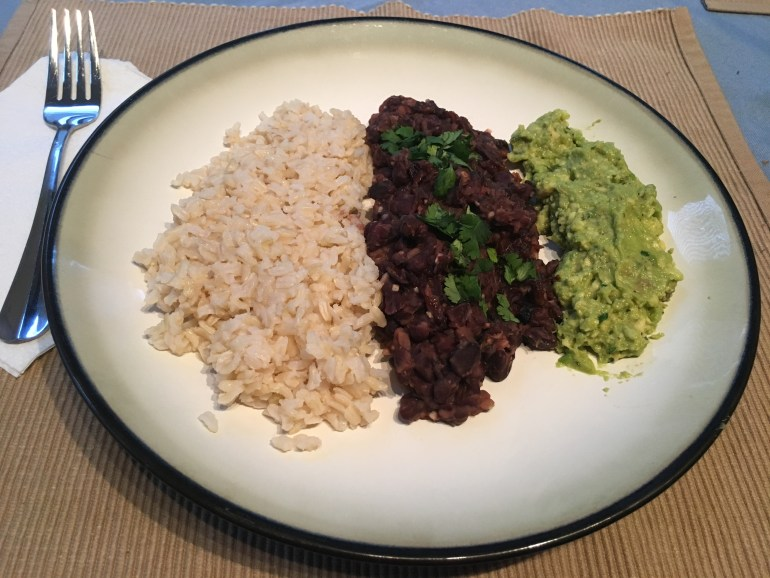 Rice, Beans & Avocado