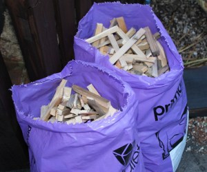 We also sell bags of dried kindling