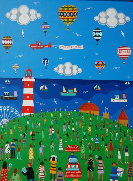 Paintings By Naive Artist Brian Pollard Plymouth Devon