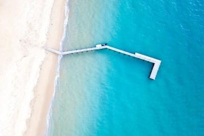 Collins Bay Portsea - Aerial Artwork
