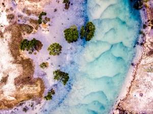 Pastel Landscape - Aerial Artwork
