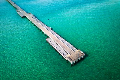 Stingray Rosebud Pier - Aerial Artwork
