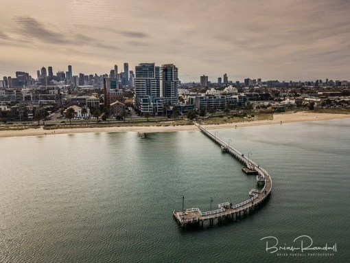 Lagoon Pier Port Melbourne - Aerial Artwork
