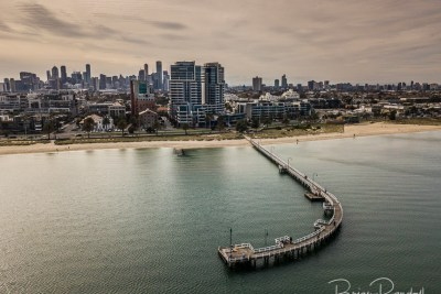 Lagoon Pier Port Melbourne - Aerial Artwork