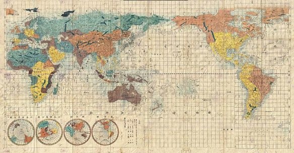 an ancient map of the world to go along with a post on crazy missionaries