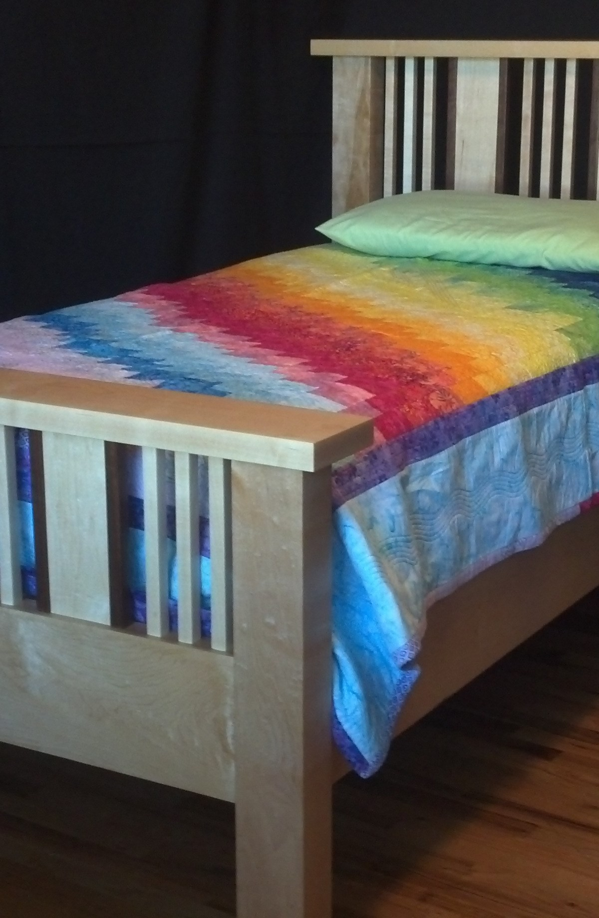 Custom made Mission Style Bed