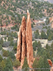 Three Graces Rock Formation at The Garden of The Gods