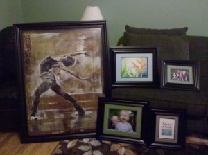 Custom framed paintings and photos