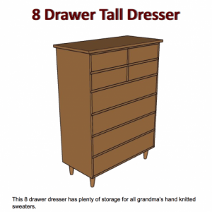 How to build a tall dresser